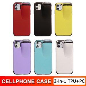 İPhone 11 2 1 Telefon Kılıfı TPU + PC Kapak Koruyun Kulaklık Depolama Tutucu Hard Case iPhone XS MAX X XR 8 7 6 S 6 Artı