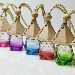 Colors 9 Bag Oil Diffuser Essential Car Clothes Ornaments Air Freshener Pendant Empty Glass Bottle Perfume
