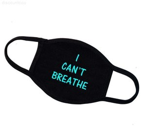Style Cotton I Cant 2020 Breathe Face Washable New Black Lives Matter Three Layers Cycling Masks Glowed Designer Scarf Aduzq Swlgv