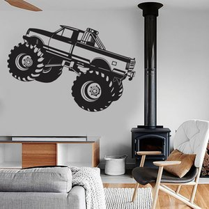 Wall Decal Car Monster Truck Auto Body Shop Garage Man Cave Kids Boys Bedroom Home Cool Decoration Vinyl Wall Stickers