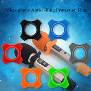 20 Pcs Lot 4 Angle Anti Slip Rolling Wireless Microphone Roller Ring Mic Accessories Best quality Free shipping