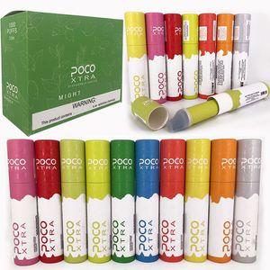 Original POCO XTRA Disposable Device Pod Kit 550mAh Battery 3.5ml Pods Bar Cartridge Vape Pen 1000 Puff Xtra Kits Hot 100% Authentic DHL