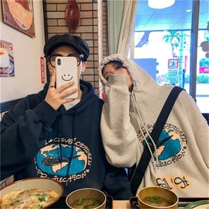 Korean fashion brand loose and lazy style ins super fire CEC couple's sweater women's autumn winter Plush coat fashion in school season