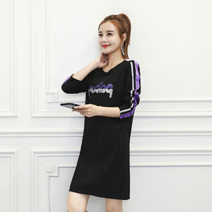 The new autumn 2019 Korean version of the fashion loose fitting slimming college style long versatile undershirt
