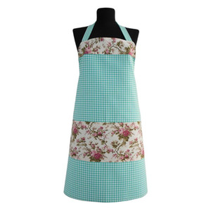 Stylish Designs Plaid and Floral Mint Green | Cotton Cleaning Aprons for Woman | Gift Bibs Ideas to Moms Water and Stain Proof