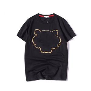 Летний дизайнер T Рубашки для мужчин Женщины Топы Tiger Head Письмо Вышивка Футболка Мужская Одежда Марка Бренд с коротким рукавом Футболка Женщины Топы S-2XL