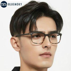 BlueMoky Anti Blue Light Glasses Frame Men Business Square Computer Gaming Gafas Retro Ultralight Optical Myopia Eyewear