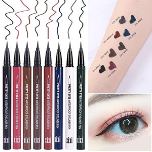 Waterproof Colorful Colorful Liquid Eyeliner Quick-drying and Long-lasting Fine-tip Eyeliner Makeup Tool Black blue red brown