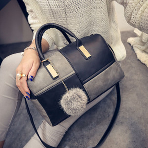 Autumn and winter new European and American fashion patchwork women handbag bag single shoulder cross body stereotypes bags
