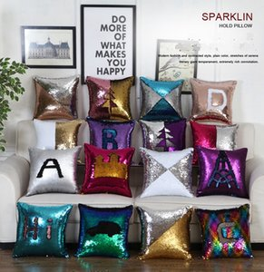 Sequin Pillow Covers Glitter Mermaid Cushion Covers Reversible Sequins Pillow Case Magical Color Changing Home Decor24 Styles10pcs LQPYW1240