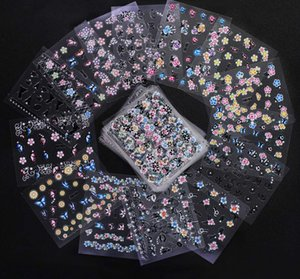 50 pcs Set 3D Mix Color Floral Design Nail Art Stickers Decals Manicure Beautiful Fashion Accessories Decoration MJ02
