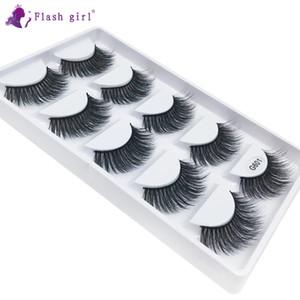 Factory wholesale price G601 best selling 3D mink hair eyelashes 5 pairs tray handmade natural long false eyelashes vendor