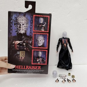 NECA Hellraiser Action Figures He'll Tear Your Soul Apart Ultimate Pinhead Action Figure Collectable Toy Gifts 18cm 7inch Z1120
