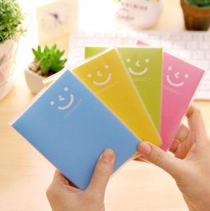 مصغرة المفكرة المحمولة دفتر الحلوى مبتسم الوجه المفكرة غطاء الصلب الإبداعية الاتجاه مكتبة كتاب مدرسة اللوازم المكتبية BWC4054
