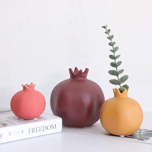 Nordic Ins Wind Pomegranate Ceramic Vase Ornaments Home Living Room Bedroom Creative Desktop Crafts Decor FM141
