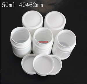50ml white plastic Powder Pill Butter Bottle keychain Refillable organizer Packaging Screw Lid jars Factory Free shippinghigh qualtity