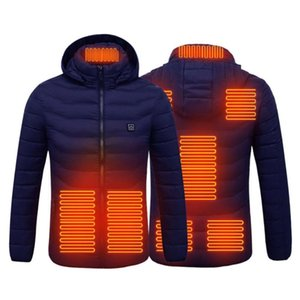 2020 Unisex USB 8 Bereiche beheizte Westejacke Männer Winter elektrische beheizte Jacke mit Kappen im Freien Jagdweste Wanderweste