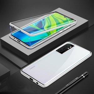 Magnetische Hülle für Xiaomi Mi Anmerkung 10 Lite Fall Dual Side Tempered Gla Hard Cover für MI Note 10 Lite Funda H Sqcihj