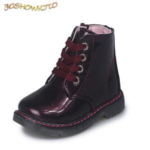 JgshowKito Bambini Bambini Martin Baby Little Medium Boys Girls Boots Fashion Morbido Autunno Autunno Scarpe Invernali NEWX1024