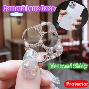 Protetores de lente da câmera de diamante para o iPhone 12 12 pro máxima brilhante bling lente de diamante para iPhone 11 12 mini protetor casos