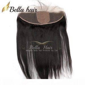 8-22inch Silk Base Lace Frontal Closure 13*4 Brazilian Straight Hair Pieces Human Hair Extensions Bella Hair Free Shipping