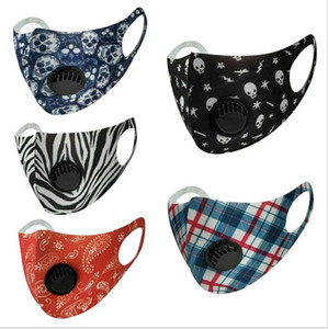 Ice Silk Face Mask With Breathing Valve Washable Mask Reusable Anti-Dust PM2.5 Protective Masks black Recycle Designer Valve Mask GGA3303-5