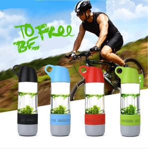 2-в-1 бутылки воды Bluetooth Speaker Бутылки для воды Бег Спорт Wireless Cup Фитнес Intelligent Tweaker Drinkware с крышкой DHC3738