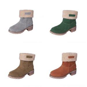 vESv Warm Men Ankle Boots Outdoor Thick Plush Winter Men Snow Boots Comfortable Split boot boy Leather Autumn Fashion Men Warm Boots