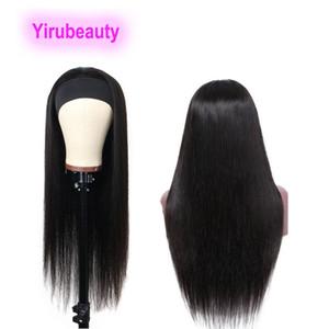 Kafa Patlama Düz Hint Virgin İnsan Saç Kapaksız 613 # Tam Mekanizma 10-32 inç Doğal Renk Uzun İnç Kafa Patlama Peruk