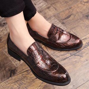 Patent Leather Men's Office Shoes Slip-on Simple Basic Party Wedding Formal Shoes Gentleman Oxford Pointy Fashion Shoes