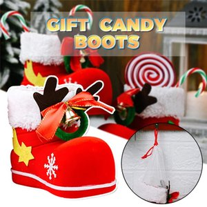 2021 Christmas Decor Santa Boot Shoes Candy Stocking Extra Large Gift Box Decoration Present Child Candy Bags Xmas Tree Decor50