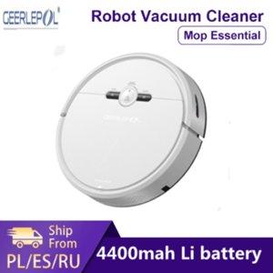 المكانس الكهربائية Geerlep D2-003 تجتاح التطهير الروبوت نظافة D2 للمنزل الأذنين الغبار تعقيم الذكية المخطط wifi الإعصار شفط