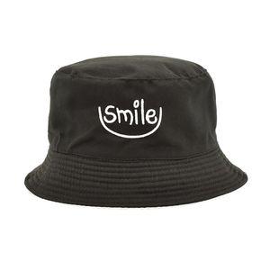 New Smile Bucket Hats Reversible Unisex Cotton Fashion Bob Cap Women Hip Hop Gorro Men Summer Cap M62