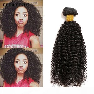 8A Brésilien Kinky Cheveux Courby Bundles Brésilien Afro Kinky Curly EXTENDUES DE CHEVEUX HUMUMES BRÉSILIENNES CORDÉS BRÉVIRES TAINES
