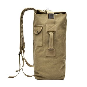 Large Capacity 2 Size Men Women Sport Travel Gym Military Tactical Climbing Backpack Bags Canvas Bucket Shoulder Sports Bag Male Z1124