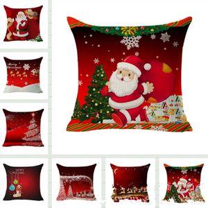 Eco-Friendly Christmas Decoration Pillowcase Square Cover Throw Sofa Cushion Cover Pillow Case Gift Home Decor Sofa Bed Car FWE2513