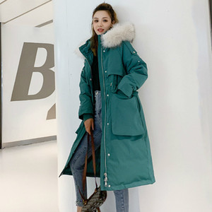 Korean Winter Loosed Down Jacket Women Oversized Royal Skin with Hood Thickened Female Parka Meadow Outerwear Office Coats Vmsd