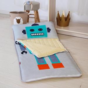 Home Robot Baby Sleeping Bag 100% Cotton + Fleece Boy Girl Child Cartoon 75*155 Mothercare Body Bear Kids New Fleabag Cover