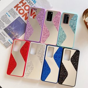 New Arrival Makeup Mirror Case Glitter Bling Cell Phone Case For Huawei P40pro P Smart 2019 Psmart Z Y7 2019