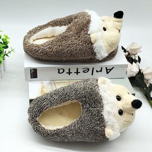 special hedgehog fur timber land shoes men women winter Custom Home House slippers Children indoor 201203