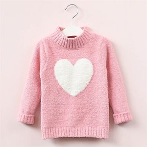 sweater girl 2020 winter long sleeve warm spring knitted baby girls sweater girls pullover top 4 8 years heart sweater girls LJ201130