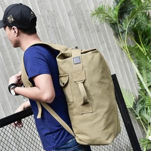 Large Capacity Rucksack Man Travel Bag Mountaineering Backpack Male Luggage Canvas Bucket Shoulder Bags for Boys Men Backpacks