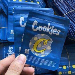 2020 Galletas Azules Embalaje Mylar Bolsos Resellable EDIBLES PLÁSTICO CALIFICA DE PLÁSTICO DE CALIFORNIA SF 8º 3.5G Olor Spell Prueba impermeable Cremallera Paquete Bolsa