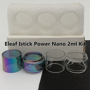Eleaf Istick Power Nano 2ML Kit Нормальная ламповая трубка 4 мл четкие Радуга замена стеклянной трубки пузырь Fatboy 3шт / коробка розничная упаковка
