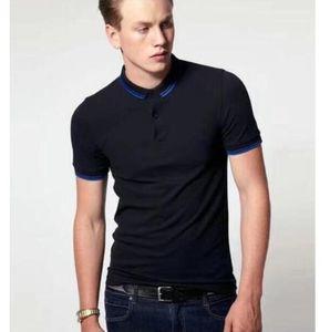 Nouveau classique Summer Angleterre Hommes Polo Chemise Broderie Slim Fit Fit London Britannique Polos Boys Boys Twin T-shirts T-shirts Noir Gris Noir Gris