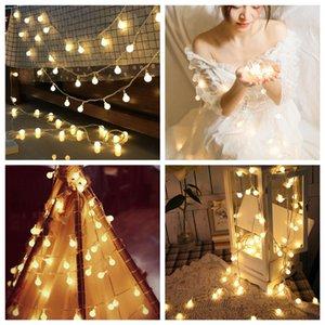 Lampada a LED String Battery Ball Christmas Star Lamp Tappeto Lampada Della Lampada Della Stanza Decorazione Piccolo colore Light 3m 20 Light T3i51465