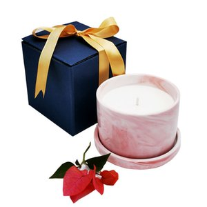 NEW DIY Scented Ceramic Jar Candle Natural Eco-friendly Aromatherapy Wax Candle Green Tea Grapefruit Vanilla Cherry Scented Candle GWA2644