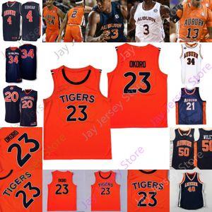 Tigers Basketball Jersey NCAA College Samir Doughty Isaac Okoro Danjel Purifoy McCormick Austin Wiley Devan Cambridge Johnson Barkley
