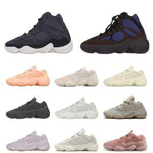 2021 Spor Kanye West 500 Erkekler kadınlar için Koşu Ayakkabıları BOYUT 36-46 Kemik Beyaz Yardımcı Siyah Soft Vision Süper Ay Sarı Eğitmenler Spor ayakkabılar