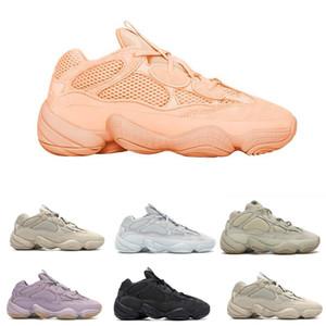 Soft Видение 500 Kanye West Stone Desert Rat Румяна Соль Супер Луна Желтый 3M Полезность черный кроссовки для мужчин женщин спортивные кроссовки Мода